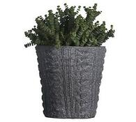 Obal na květináč keramický kulatý šedý