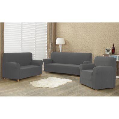4Home Multielastyczny pokrowiec na kanapę 2-os. Comfort, szary, 140 - 180 cm