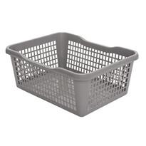 Plastový košík 47,5 x 37,8 x 20,8 cm, sivá
