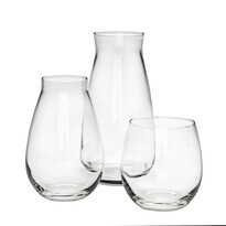 Altom Zestaw dwóch wazonów szklanych i świecznika Danet, 3 szt.