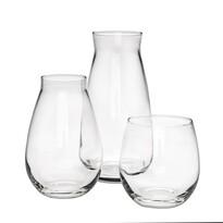 Sada dvou skleněných váz a svícnu Danet, 3 ks