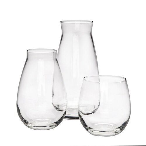 Altom Sada dvou skleněných váz a svícnu Danet, 3 ks