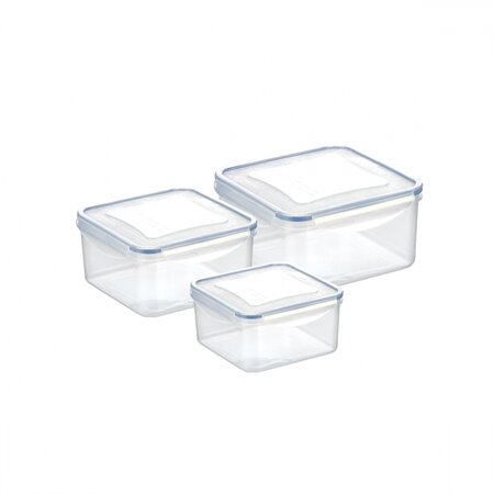 Set 3 doze Tescoma FRESHBOX 0,4/0,7/1,2 l,pătrate