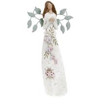 Polyresinová dekorace Květinová víla Jasmina, 25 cm