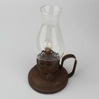 Kovová lampa so žiarovkou, 24,5 cm