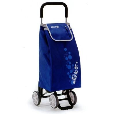 Gimi Twin nákupní taška na kolečkách modrá