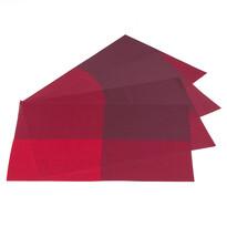 Prostírání DeLuxe červená, 30 x 45 cm, sada 4 ks