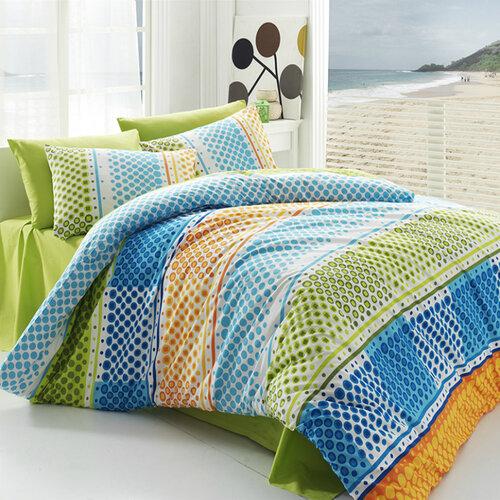 Tip Trade Bavlněné povlečení Fashion Green, 220 x 200 cm, 2 ks 70 x 90 cm