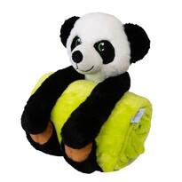 Carol gyermek takaró plüssjátékkal, pandás, 80 x 100 cm