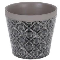 Osłonka ceramiczna na doniczkę Gandia czarny, śr. 12,5 cm