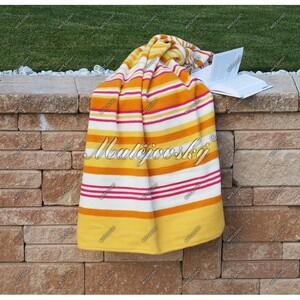 Matějovský bavlněná deka Summer žlutá, 160 x 220 cm