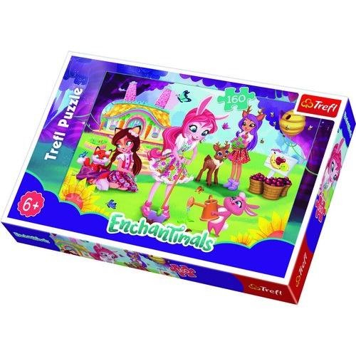 Trefl Puzzle Enchantimals V záhrade, 160 dielikov