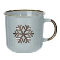 2dílná sada porcelánových hrnků Merry Christmas, 400 ml, šedozelená
