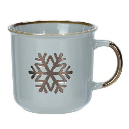 2-dielna sada porcelánových hrnčekov Merry Christmas, 400 ml, sivo-zelená
