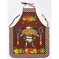 Fartuch i rękawica kuchenna Barbecue brązowy, 75 x 80 cm, 18 x 28 cm