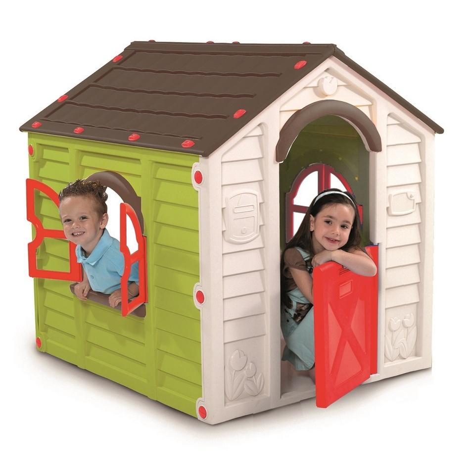 Dětský domek Keter Rancho Playhouse zelený/hnědý