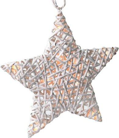 Solight hviezda s LED diodami vianočná ratanová,
