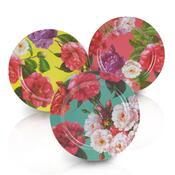 Blossom Sada mělkých talířů 25 cm, 3 ks