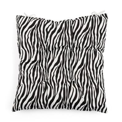 Sedák Zebra černá, 40 x 40 cm