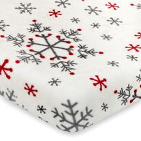 4Home Vánoční prostěradlo mikroflanel Snowflakes