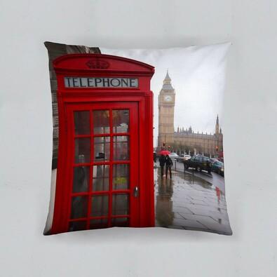 Polštářek London, 40 x 40 cm