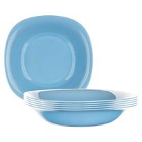 Luminarc Kwadratowy talerz głęboki CARINE 21 cm, 6 szt. niebieski