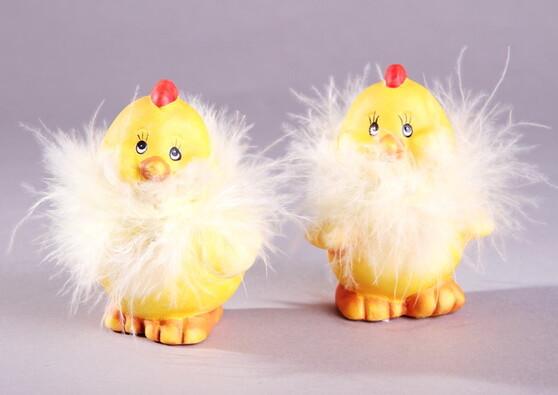 Velikonoční dekorace kuřátka, 2 ks