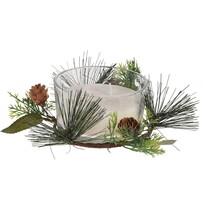 Merry Candle gyertya üvegpohárban, 185 g, fehér