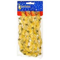 Vianočná reťaz s korálkami, hviezdami a stuhou, 180 cm