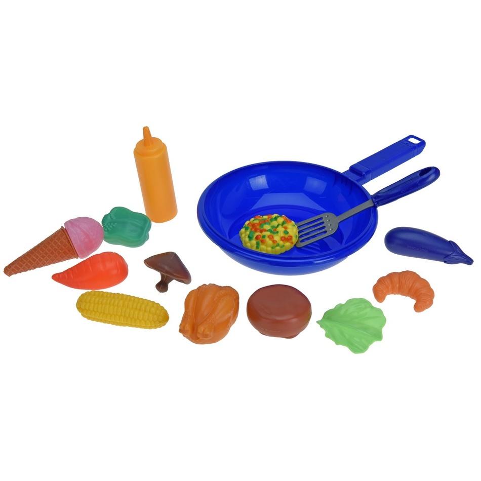 Dětský hrací set Pánvička modrá, 30 cm