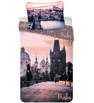 Bavlnené obliečky Praha - Romantique, 140 x 200 cm, 70 x 90 cm
