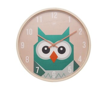 Dětské nástěnné hodiny se sovou JIP0904