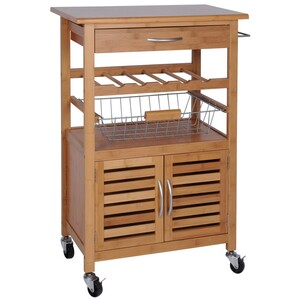 Excellent Kuchyňský vozík Bamboo