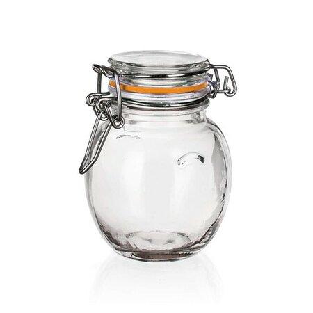 Doză din sticlă Banquet Lina 120 ml, ermetică, set 6 buc.