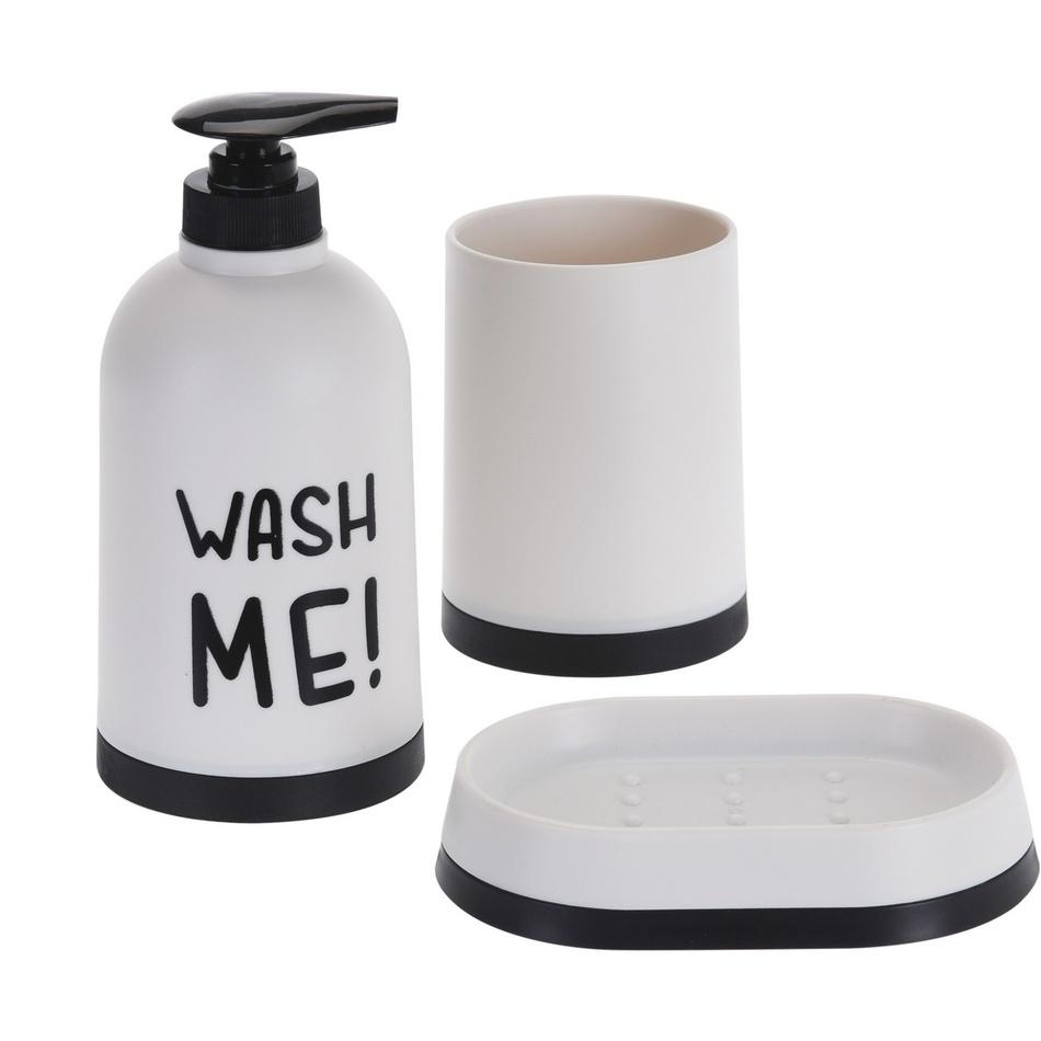 Kúpeľňový set Wash Me biela, 3 ks