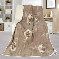 DUO Rózsácska európai merinó gyapjú takaró, 155 x 200 cm