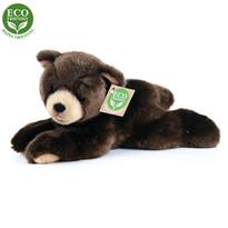 Rappa Plyšový ležící medvěd tmavě hnědá, 15 cm