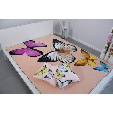 Pătură Domarex BUTTERFLY 3D crem, 150 x 200 cm