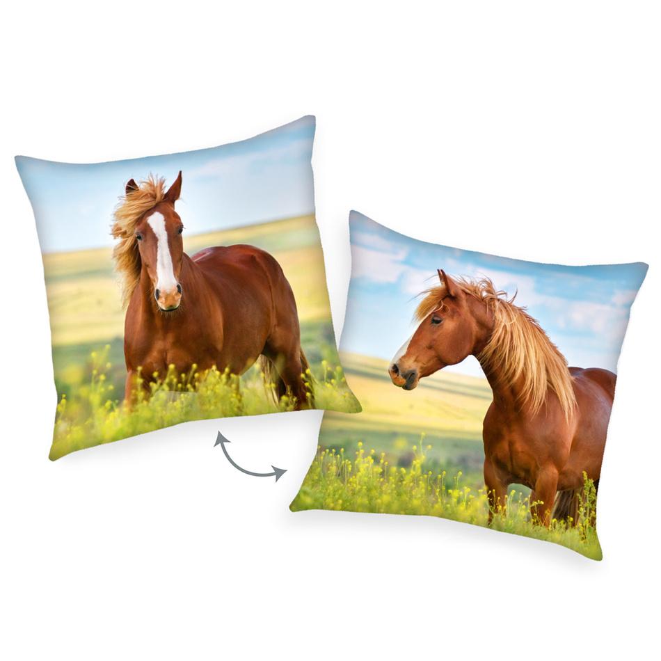 Herding Vankúšik Kôň hnedá, 40 x 40 cm