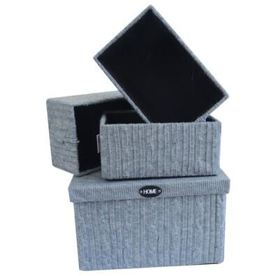 Uložné krabice , 4 ks, šedá