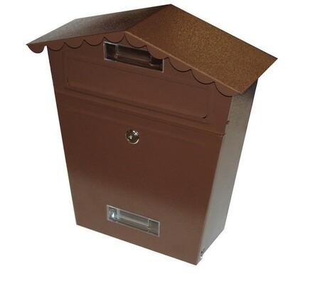 Poštovní schránka stříška hnědá