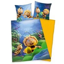 Detské bavlnené obliečky Včielka Mája, 140 x 200 cm, 70 x 90 cm