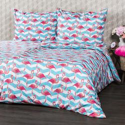4Home Pościel bawełniana Flamingo, 140 x 200 cm, 70 x 90 cm