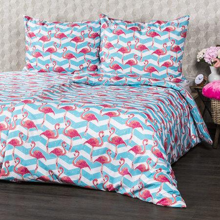 4Home Flamingo pamut ágyneműhuzat, 160 x 200 cm, 70 x 80 cm