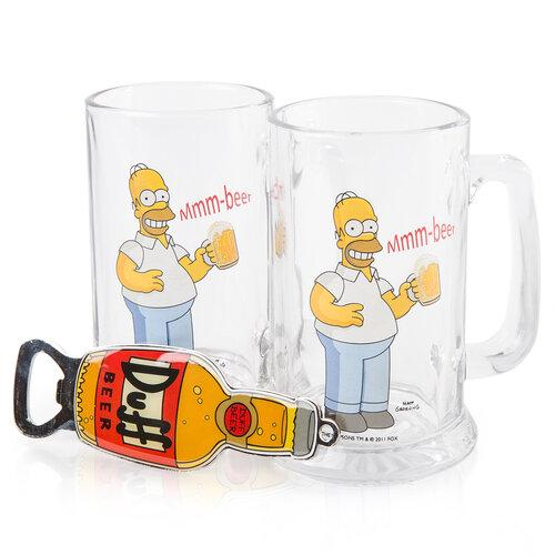The Simpsons Darčekový set pivných pohárovDuff Beer 330 ml
