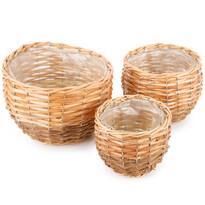 Set recipiente învelite de ghiveci Gala, cufolie, 3 buc.