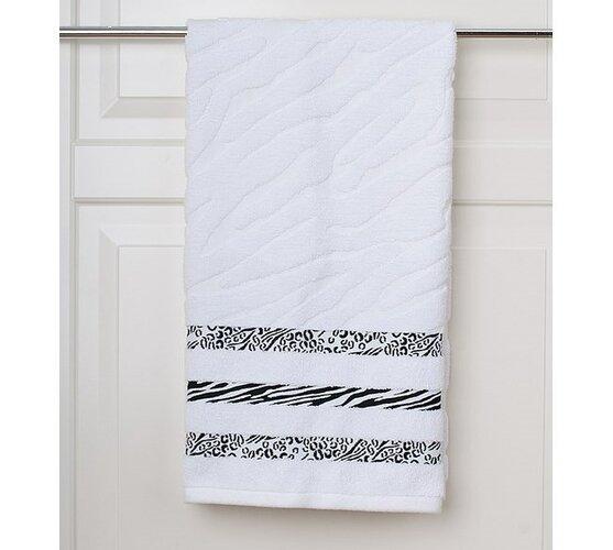 Osuška s plastickým vzorem bílá, 70 x 140 cm