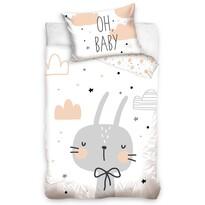 Gyermek pamut ágynemű kiságyba Füles nyuszi, 100 x 135 cm, 40 x 60 cm