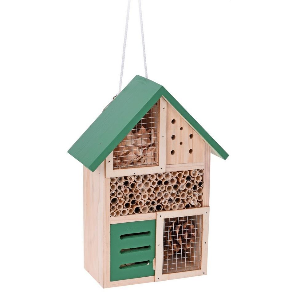 Domček pre hmyz, zelená