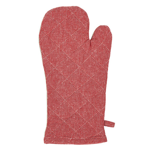 Edényfogó mágnessel és alátéttel, zsebbel, Heda bézs/piros, 18 x 32 cm, 18 x 25 cm